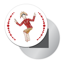 Load image into Gallery viewer, Chinese Tea Lady Button/Magnet/Mirror