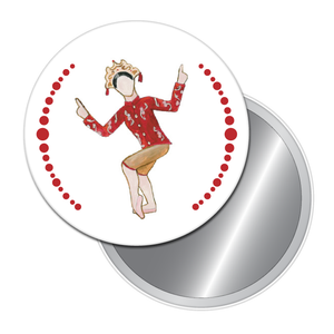 Chinese Tea Lady Button/Magnet/Mirror