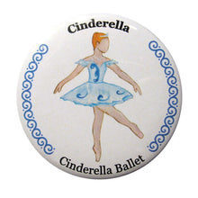 Load image into Gallery viewer, Cinderella, Act II Button/Magnet/Mirror - Ballet Gift Shop