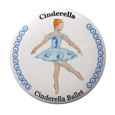 Cinderella, Act II Button / Magnet - Ballet Gift Shop