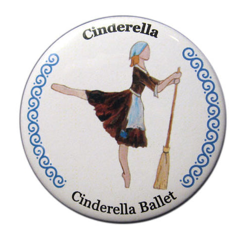 Cinderella, Act I Button / Magnet - Ballet Gift Shop