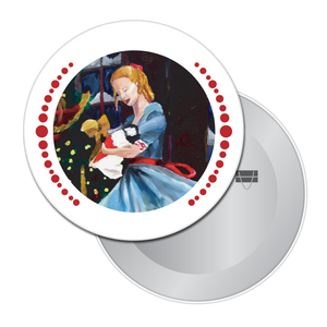 Clara and Her Nutcracker Button/Magnet/Mirror