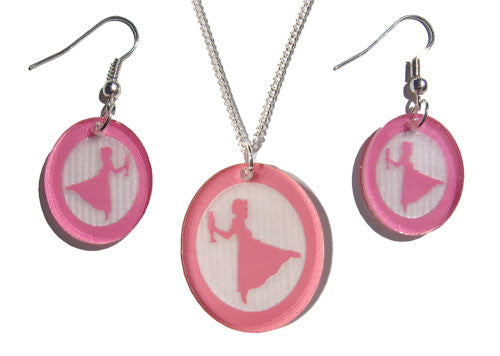 Clara Silhouette Earrings & Pendant Set