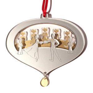 Clara, Prince & Angels Layered Ornament - Ballet Gift Shop