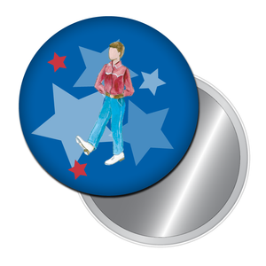 Clogging Dancer Boy Button/Magnet/Mirror