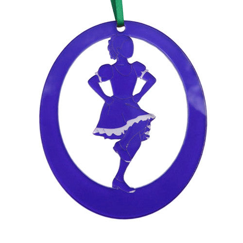 Clogging Girl Laser-Etched Ornament - Ballet Gift Shop