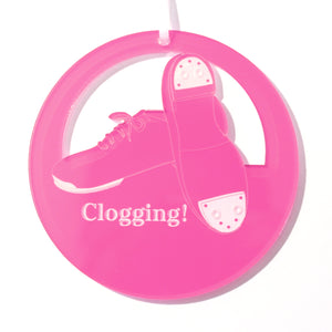 Clogging Shoes Laser-Etched Ornament