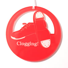 Load image into Gallery viewer, Clogging Shoes Laser-Etched Ornament