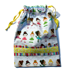 Colorful Tiny Dancers Drawstring Tote