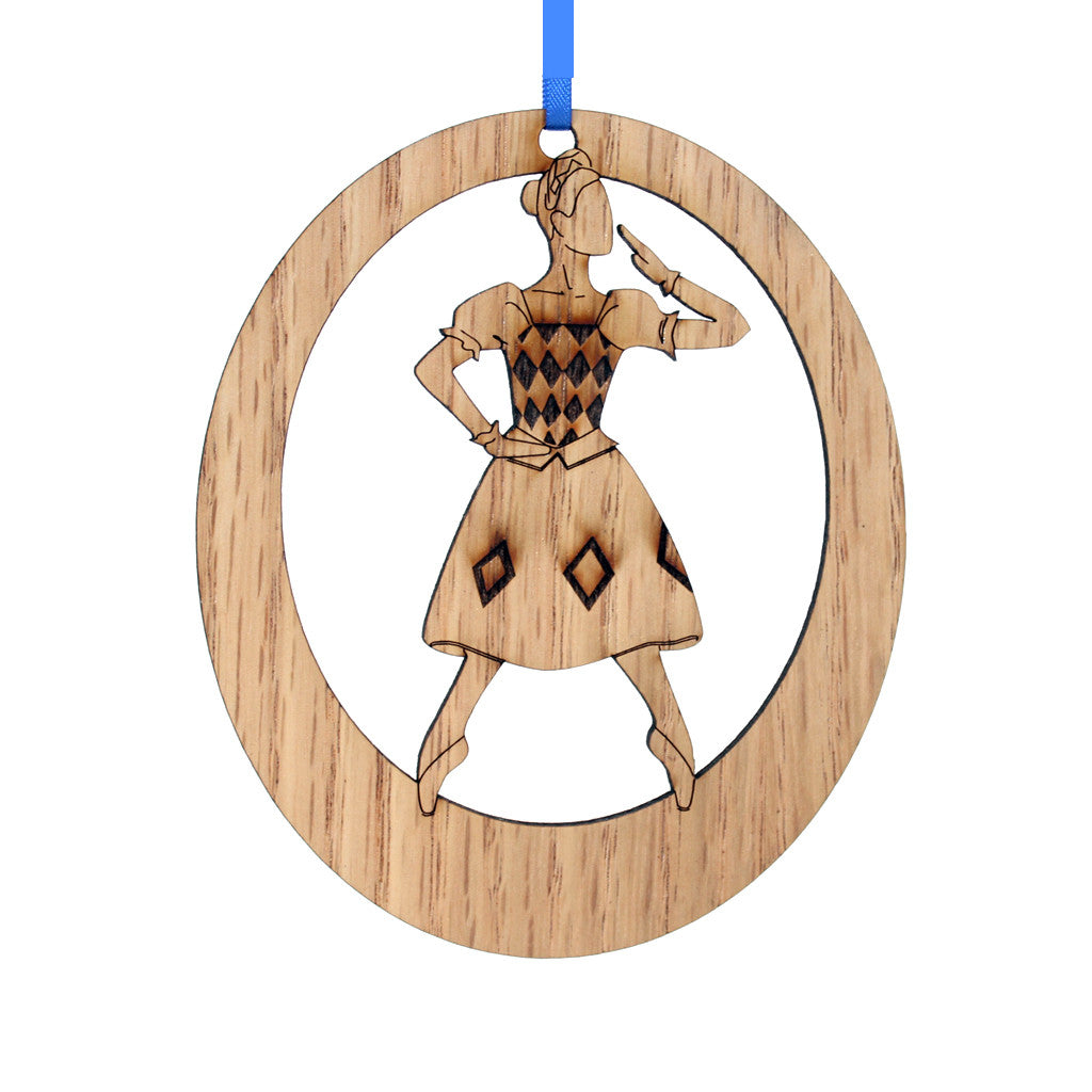 Columbine Doll Laser-Etched Ornament - Ballet Gift Shop