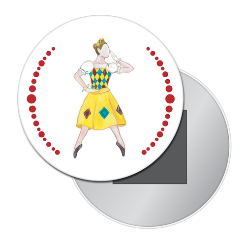 Columbine Doll Button/Magnet/Mirror