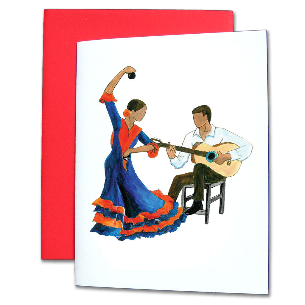 Con la Guitarra Flamenco Note Cards
