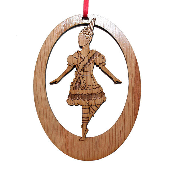 Cotton Candy Dancer Laser-Etched Ornament - Ballet Gift Shop