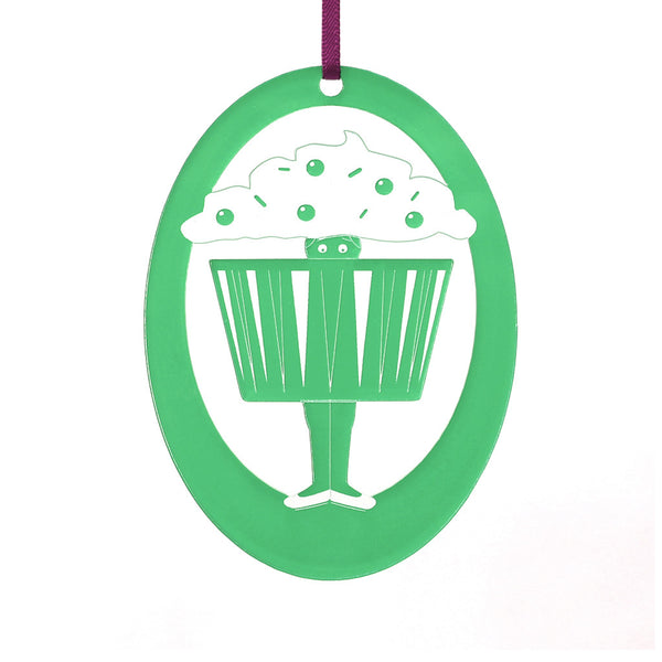 Cupcake Dancer Laser-Etched Ornament - Ballet Gift Shop