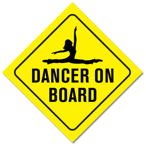 "Dancer on Board 5"" x 5"" Bumper Sticker - Ballet Gift Shop"