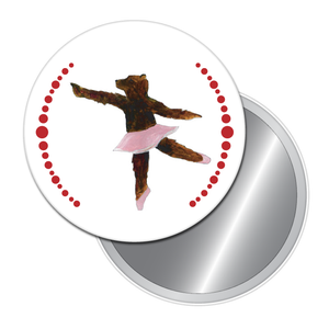 Dancing Bear Button/Magnet/Mirror