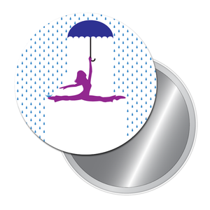 Dancing in the Rain Art Button/Magnet/Mirror