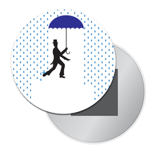 Load image into Gallery viewer, Dancing in the Rain Art Button/Magnet/Mirror