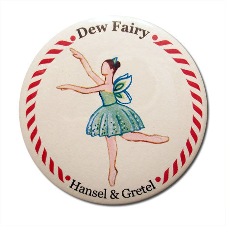 Dew Fairy Button / Magnet - Ballet Gift Shop