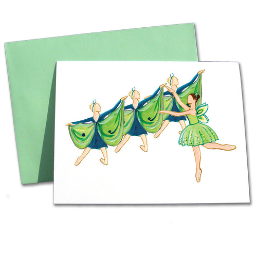 Dew Fairy & Dragonflies Note Cards - Ballet Gift Shop