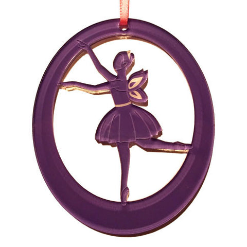 Dew Fairy Laser-Etched Ornament - Ballet Gift Shop