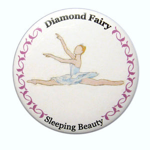 Diamond Fairy Button/Magnet/Mirror - Ballet Gift Shop