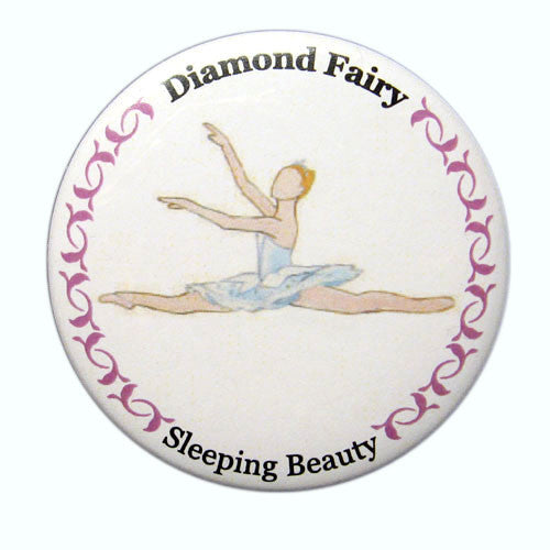 Diamond Fairy Button / Magnet - Ballet Gift Shop