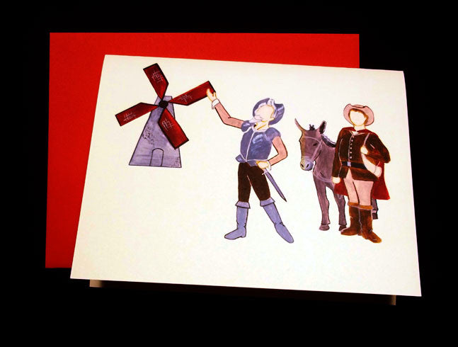 Don Quixote & Sancho Panza Note Cards
