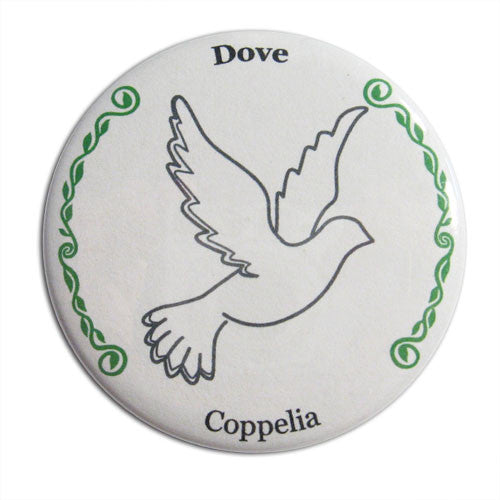 Wedding Dove Button/Magnet/Mirror - Ballet Gift Shop