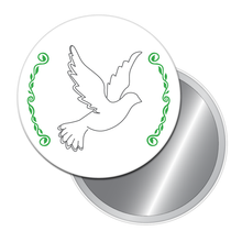 Load image into Gallery viewer, Wedding Dove Button/Magnet/Mirror