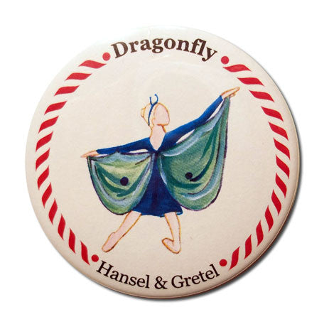Dragonfly Button/Magnet/Mirror - Ballet Gift Shop
