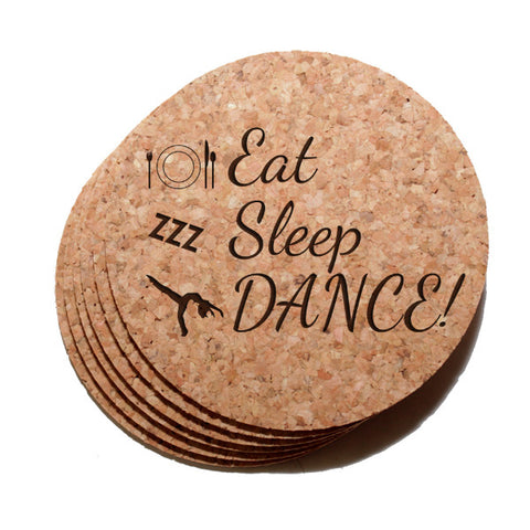 Eat, Sleep, Dance Coaster Set of 6