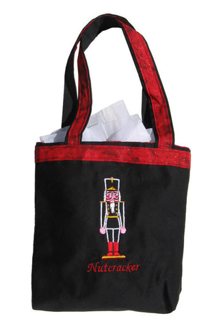 "Embroidered Nutcracker 7""x9"" Tote Bag - Ballet Gift Shop"