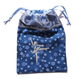 Embroidered Snow Queen Drawstring Tote
