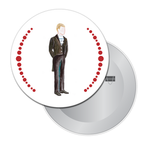 Mr. Silverhaus Button/Magnet/Mirror