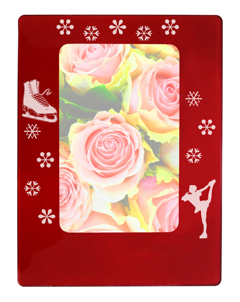 "Figure Skating 4"" x 6"" Magnetic Photo Frame (Vertical/Portrait) - Ballet Gift Shop"