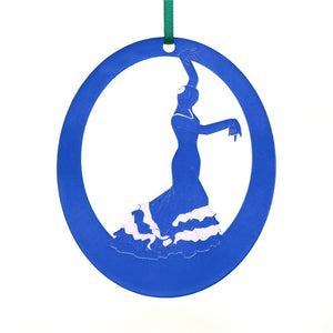 Bata de Cola Flamenco Laser-Etched Ornament - Ballet Gift Shop