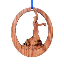 Load image into Gallery viewer, Bata de Cola Flamenco Laser-Etched Ornament - Ballet Gift Shop