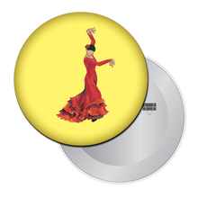 Load image into Gallery viewer, Bata de Cola Flamenco Button/Magnet/Mirror