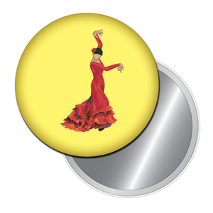 Bata de Cola Flamenco Button/Magnet/Mirror