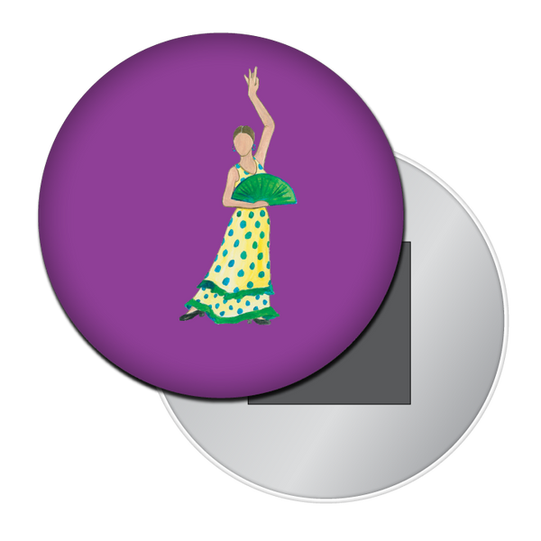 Flamenco Fan Dancer Button / Magnet