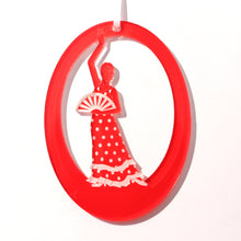 Load image into Gallery viewer, Flamenco Fan Dancer Laser-Etched Ornament