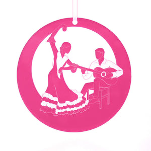 Con la Guitarra Flamenco Laser-Etched Ornament - Ballet Gift Shop