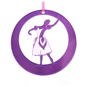 Flower Laser-Etched Ornament - Ballet Gift Shop