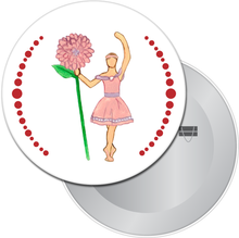 Load image into Gallery viewer, Flower Petal Girl Button/Magnet/Mirror