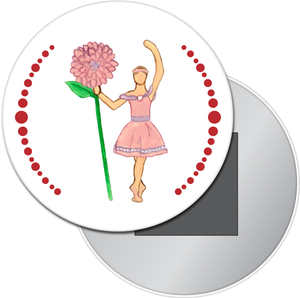 Flower Petal Girl Button/Magnet/Mirror