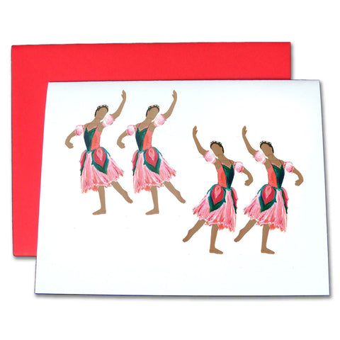 Flowers (African-American) Note Cards - Ballet Gift Shop