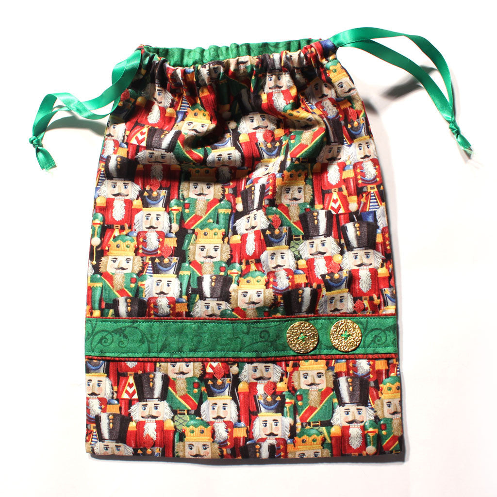 Full of Nutcrackers (2nd Edition) Drawstring Tote - Ballet Gift Shop