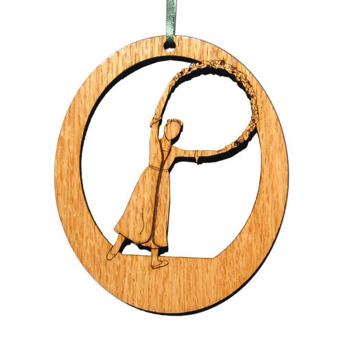 Garland Dancer Laser-Etched Ornament - Ballet Gift Shop