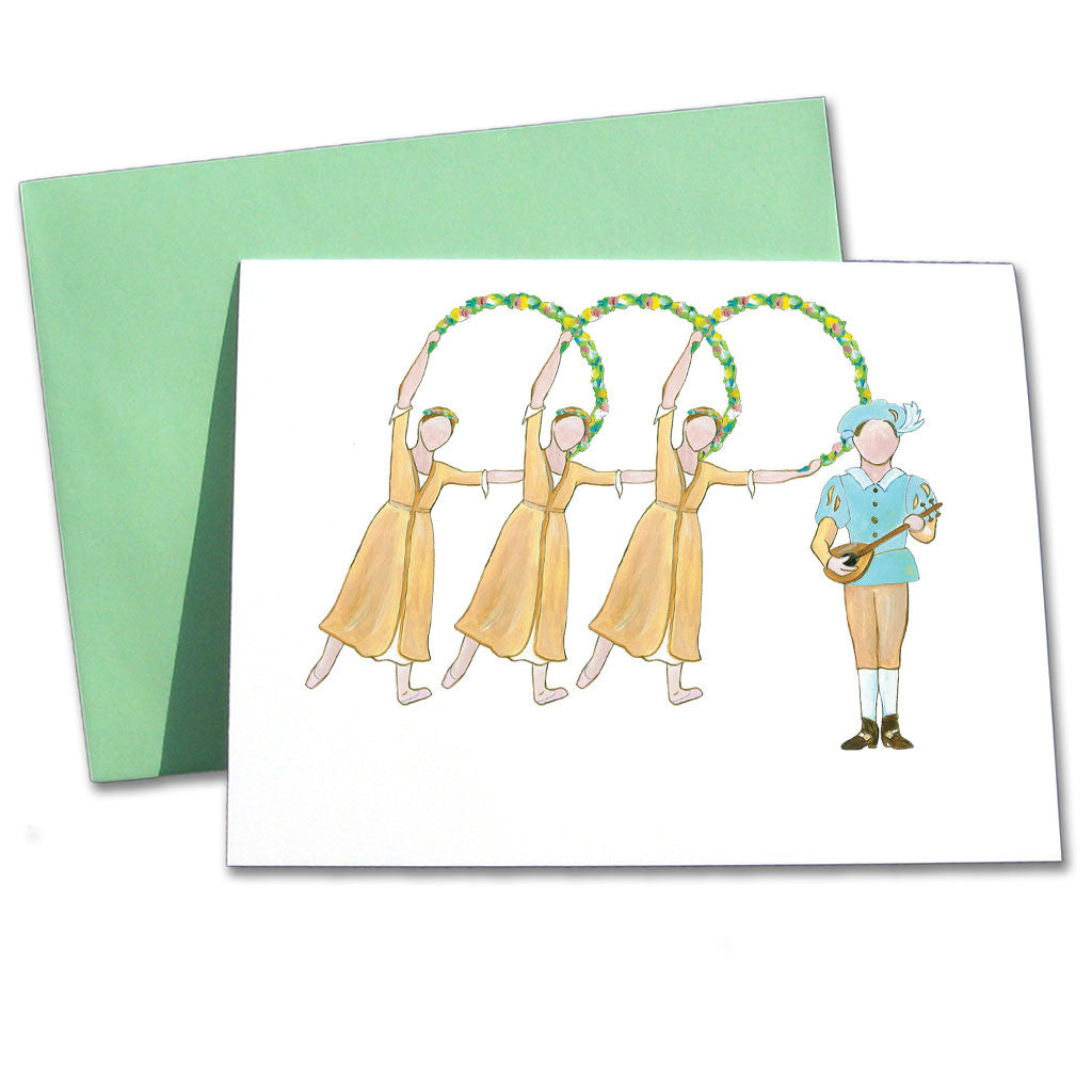 Garland Dancers & Royal Page Note Cards - Ballet Gift Shop